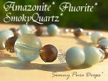 アマゾナイト* &スモーキークォーツ&フローライト ◆* 天窓のお伽話 *◆
