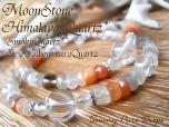 ムーンストーン&ヒマラヤ水晶* &レインボーオーラorスモーキークォーツ* ◆* 月夜菓子 *◆
