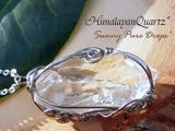 ヒマラヤ水晶・ガネーシュヒマール産・ワイヤー巻きPendant* ◆* 純粋の星種 *◆