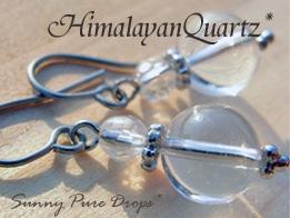 ヒマラヤ水晶pierce* ◆*  輝きの雫 *◆